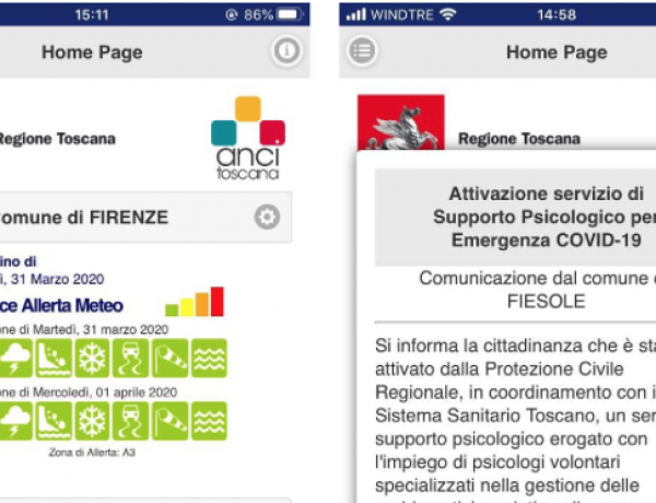 Cittadino Informato app at the time of COVID-19